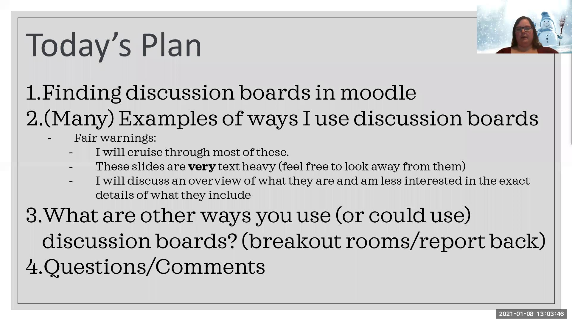 Online Engagement with Discussion Boards