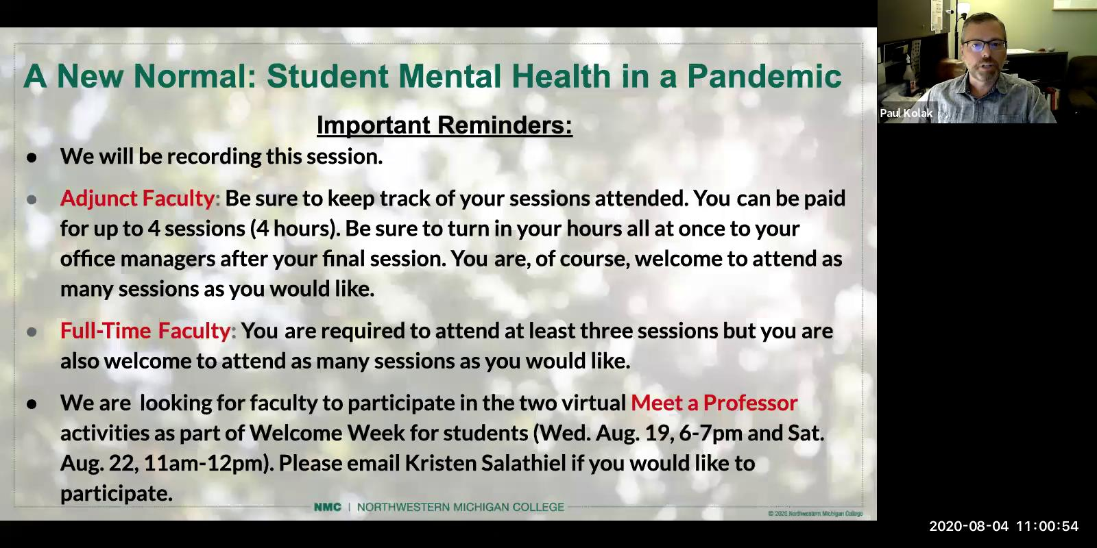 A New Normal: Students Mental Health in a Pandemic