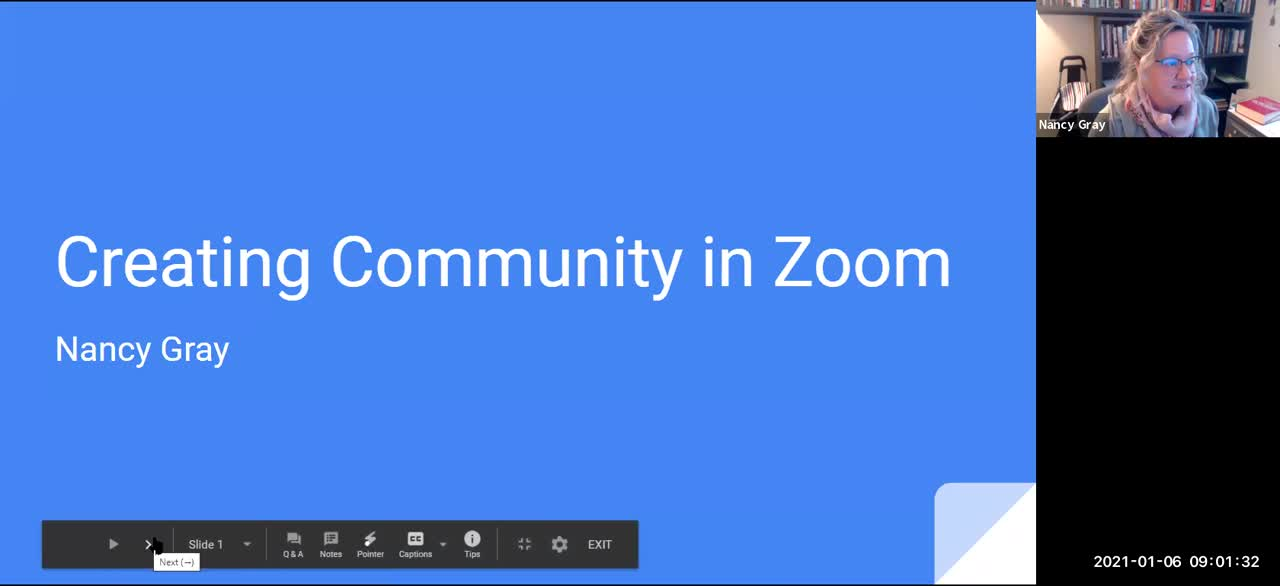 Creating Community in Zoom Final