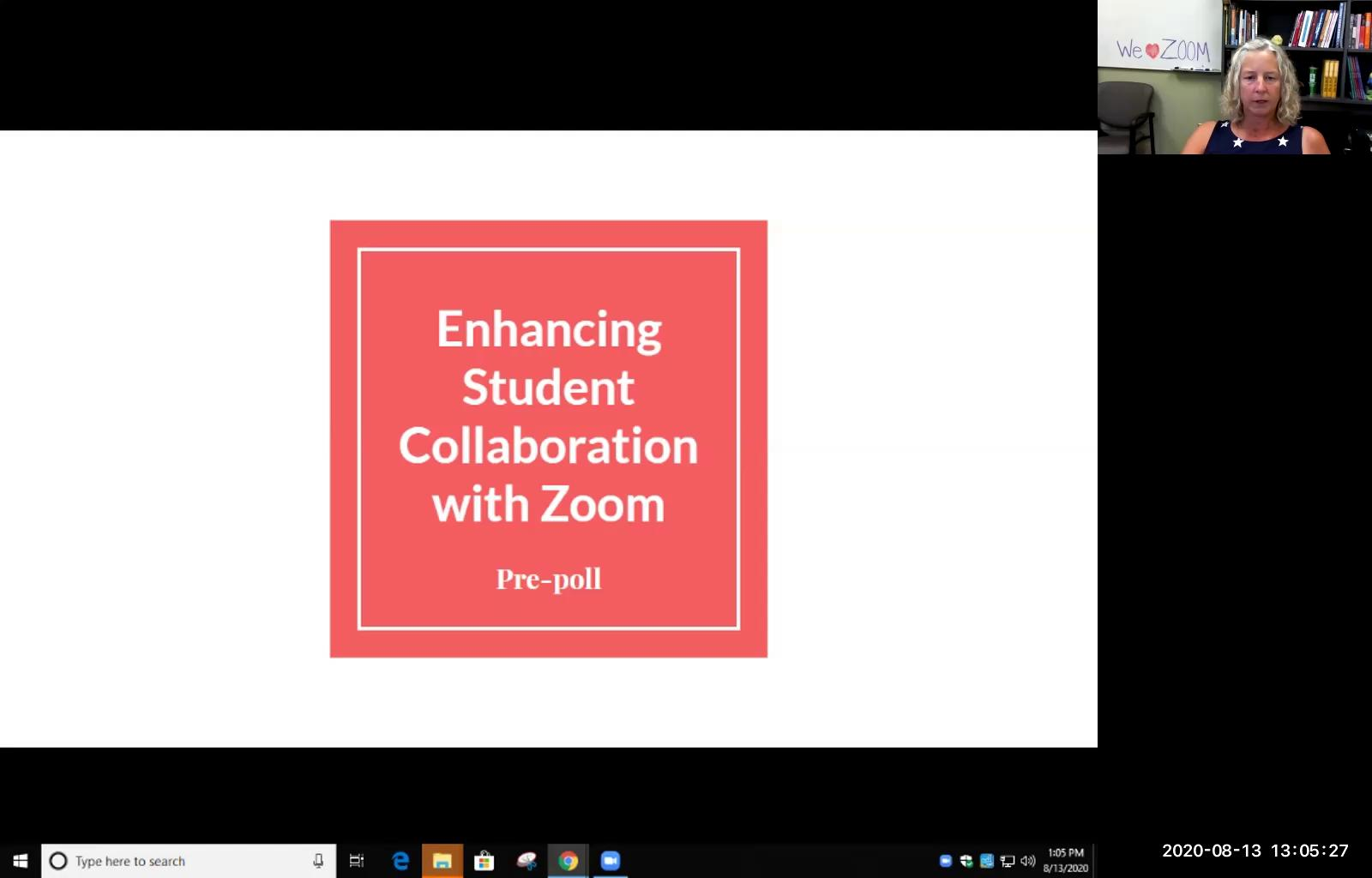 Enhancing Student Collaboration with Zoom  : 08/13...